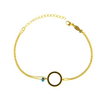 Kurshuni Armband Circle Spinell Gold
