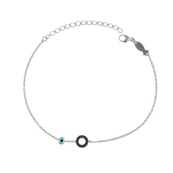 Kurshuni Armband Circle Spinell mini Silber