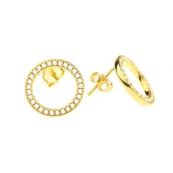 Kurshuni Ohrringe Circle klein Gold