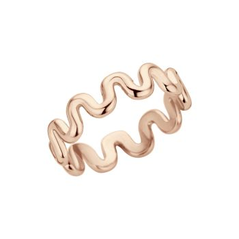 MelanO Friends Ring Crinkle Roségold