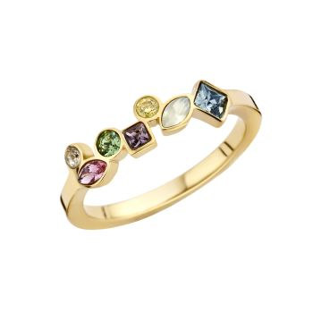 MelanO Friends Ring Mosaic Hue Gold