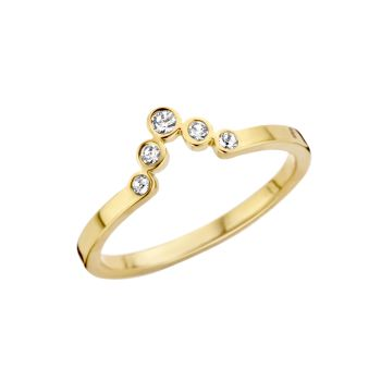 MelanO Friends Ring Pointed Zirkonia Gold