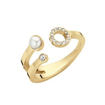 MelanO Friends Ring Trio Zirkonia Gold