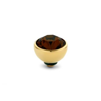MelanO Twisted Ringaufsatz Gold Coffee