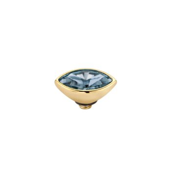 MelanO Twisted Ringaufsatz Mini Marquise Gold Midnight