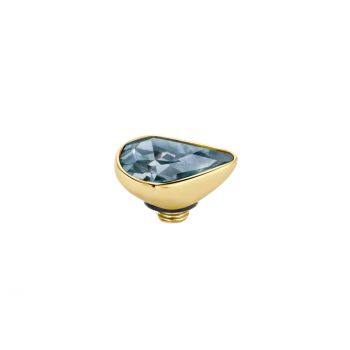 MelanO Twisted Ringaufsatz Pear Gold Midnight