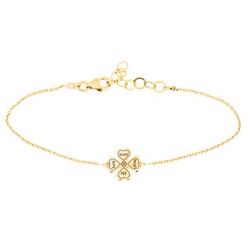 alisia Armband luck love laugh life Gold