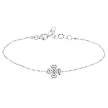 alisia Armband luck love laugh life Silber
