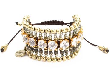 Exoal Armband High Society Crystal/Gold