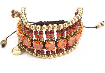 Exoal Armband High Society Rot/Orange/Gold