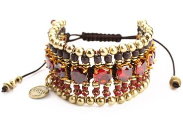 Exoal Armband High Society Rot und Gold