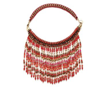 Exoal Collier Frills Rot/Pink/Gold