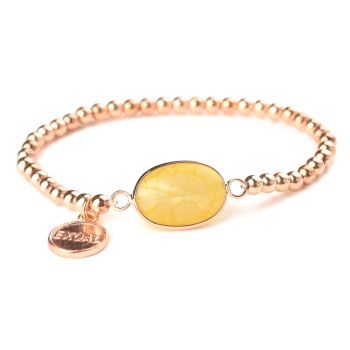 Exoal Armband Single Achat Roségold/Gelb