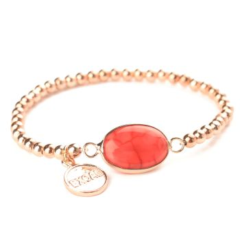 Exoal Armband Single Achat Roségold/Rot