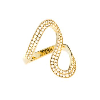 Kurshuni Ring Fluss Gold