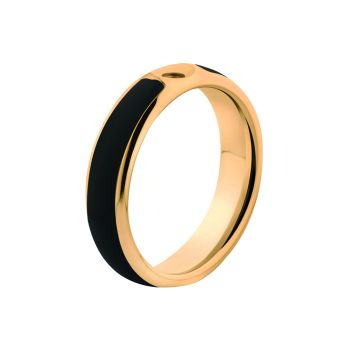 MelanO Twisted Ring Tracy Resin Gold Schwarz