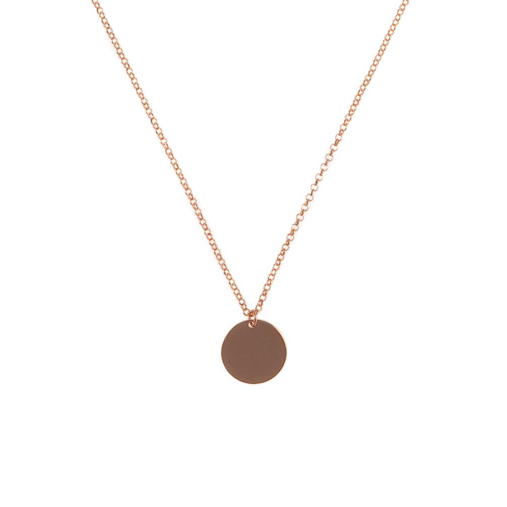 Perlenmarkt Onlineshop Kurshuni Halskette Münze Roségold