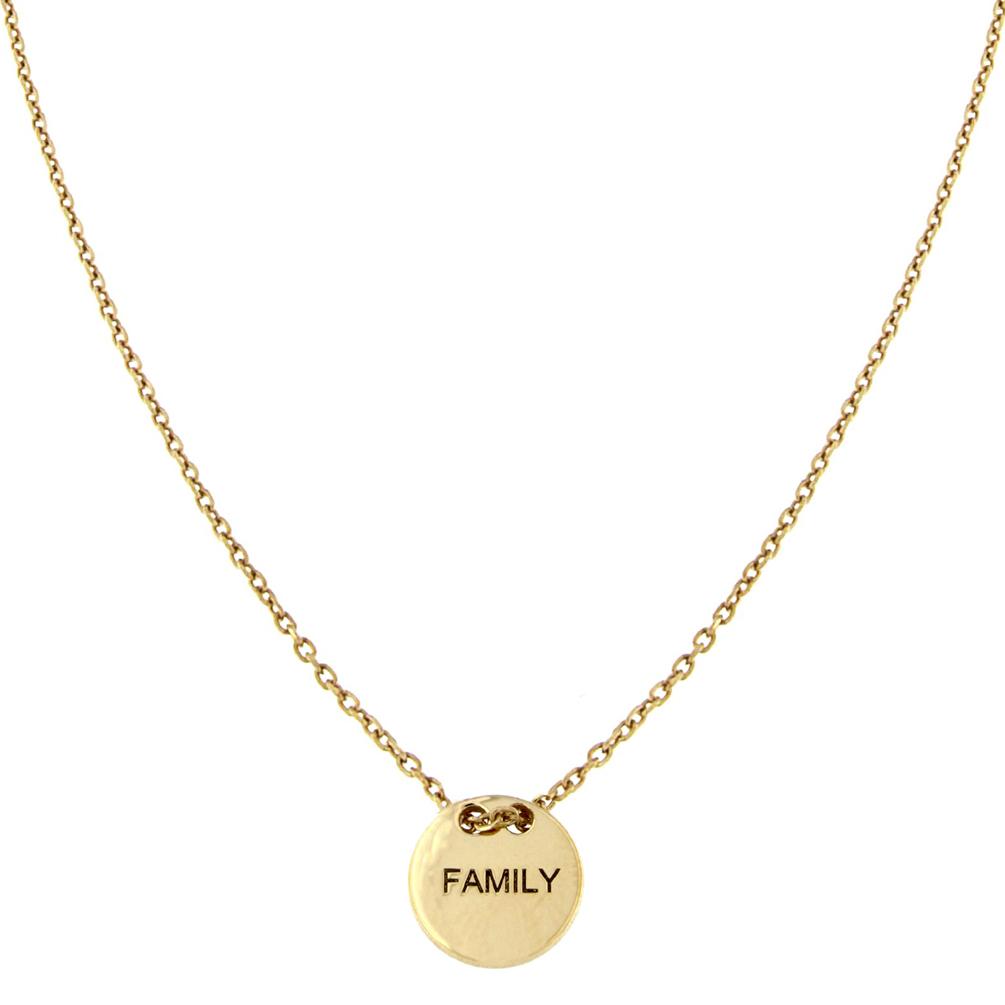 Perlenmarkt OnlineShop - alisia Halskette Family Roségold